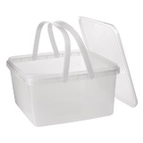 3L Square Tamper Evident Container with Handles