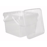 Square 4.2L Tamper Evident Container with Handles Set