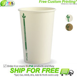 BioPak Green Line 10oz Single Wall BioCup