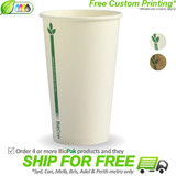 BioPak Green Line 12oz Single Wall BioCup