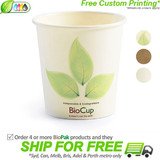 BioPak Single Wall 4oz Paper BioCup