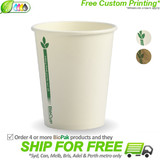 BioPak Green Line 8oz Single Wall BioCup