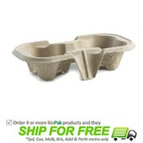 BioPak Cup Tray For 2 Cups