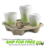 BioPak Cup Tray For 4 Cups