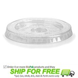 BioPak Flat Bio Hole Lid For 280mL BCFR-280Y BioCups