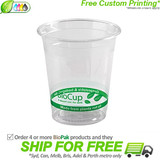 BioPak 200mL Clear Bioplastic Branded Cup