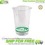 BioPak 280mL Clear Bioplastic Branded Cup