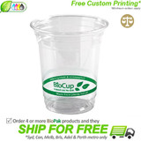 BioPak 420mL Clear Bioplastic Branded Cup