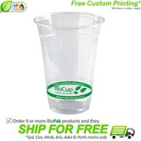 BioPak 500mL Clear Bioplastic Branded Cup