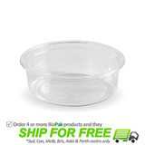 BioPak 60mL Clear Bioplastic Sauce Container