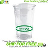 BioPak 600mL Clear Bioplastic Branded Cup