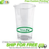 BioPak 700mL Clear Bioplastic Branded Cup