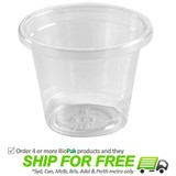 BioPak 30mL Clear Bioplastic Sampling Cup