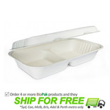 BioPak BioCane Snack Box - 2 Equal Compartments