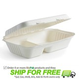 BioPak BioCane Snack Box - 2 Compartments