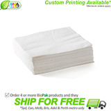 BioPak 2 Ply 1/4 Fold Lunch Napkin - White
