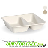 BioPak BioCane 2 Compartment Takeaway Container Base