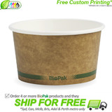 BioPak 12oz Hot and Cold Kraft Paper Bowls