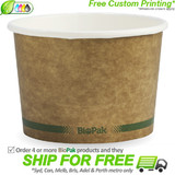 BioPak 16oz Hot and Cold Kraft Paper Bowls