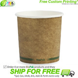 BioPak 24oz Hot and Cold Kraft Paper Bowls