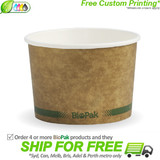 BioPak 8oz Hot and Cold Kraft Paper Bowls