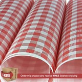 Chequered Greaseproof Paper Quarter Sheet