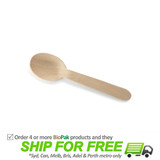 BioPak 10cm Wooden Tea Spoon