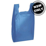 Large Plastic Carry Bag Blue