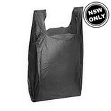 Large Plastic Carry Bag Black