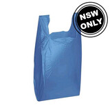 Medium Plastic Carry Bag Blue