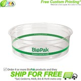 BioPak 240mL Clear Bioplastic Deli Bowl