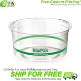 BioPak 360mL Clear Bioplastic Deli Bowl