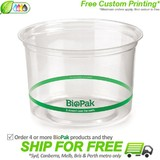 BioPak 500mL Clear Bioplastic Deli Bowl