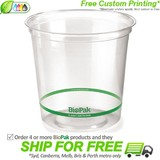 BioPak 700mL Clear Bioplastic Deli Bowl