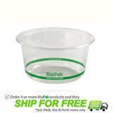 BioPak 700mL Wide Clear Bioplastic Deli Bowl