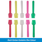 Plastic Ice Cream Spoon 5 Colour Pack