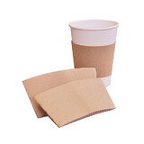 Kraft Coffee Cup Sleeves For 8oz Cups
