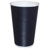 16oz Triple Walled Corrugated Paper Cup Black
