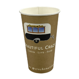 16oz Custom Printed Single Wall Cups 25K