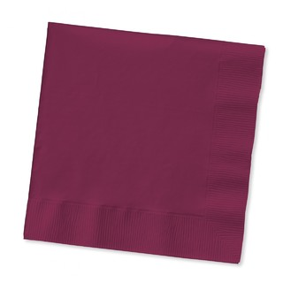 Generic 2 Ply Burgundy Dinner Napkins