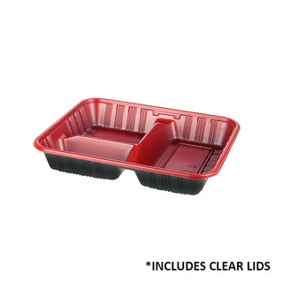 3 Compartment Bento Boxes With Lids (SB-L1)