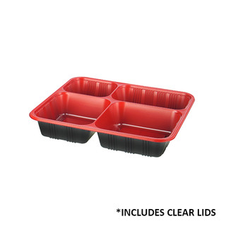 4 Compartment Bento Boxes With Lids (LZ-4)