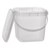 Square 1L Tamper Evident Container with Handles Set