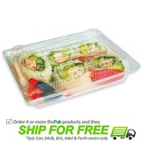 BioPak Clear Bioplastic Sushi Tray With Lid