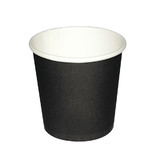 Black Single Wall 4oz Paper Coffee Cup