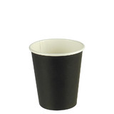 Black Single Wall 8oz Paper Coffee Cup
