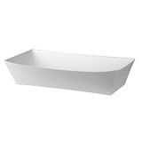 Open Hot Dog Trays - White