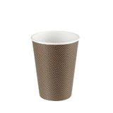 12oz Triple Walled Zero Leak Coffee Cup Brown