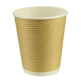 12oz Triple Walled Corrugated Paper Cup Kraft