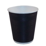 8oz Triple Walled Corrugated Paper Cup Black
